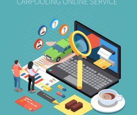 Carpooling online service vector
