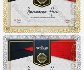 Certificate design appreciation diploma honor award certificate vector