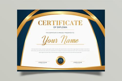 Certificate of diploma vector
