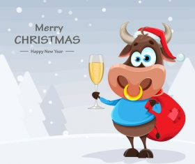 Cheers merry christmas 2021 comic vector