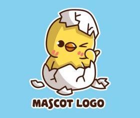 Chick mascot logo vector