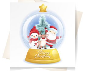 Christmas crystal ball vector