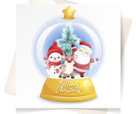Christmas crystal ball vector