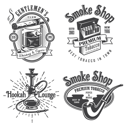 Cigarette logo vector