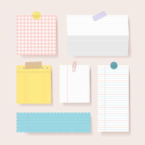 Clipping papers blank pages notebook vector