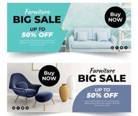 Cloth furniture sale vector