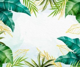 Coconut leaf background vector