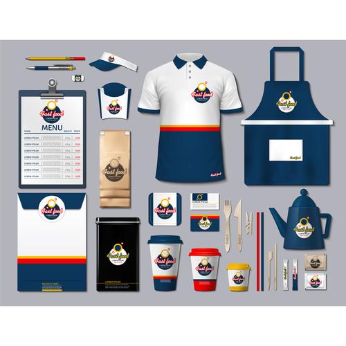 Coffee shop identity design vector