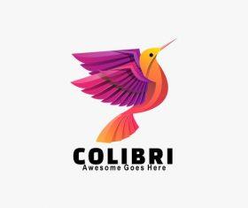 Colibri icon vector