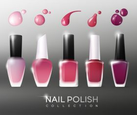 Collection nail polish flyer vector