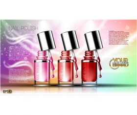 Color flyer nail polish vector
