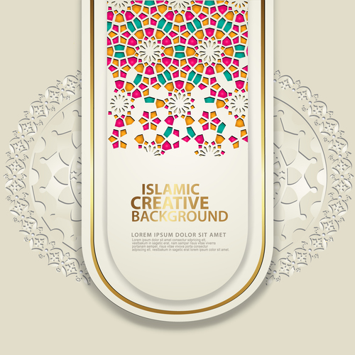 Colorful decorative mosaic background vector