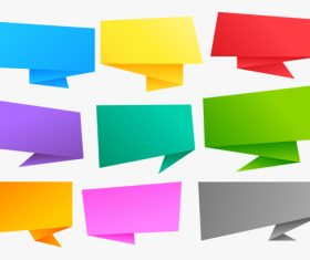 Colorful origami chat bubble vector