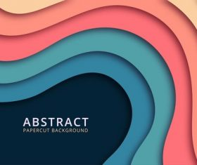 Colorful paper cut abstract background vector
