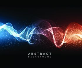 Colorful waves abstract background vector