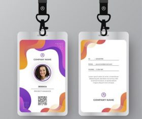 Company ID card vector