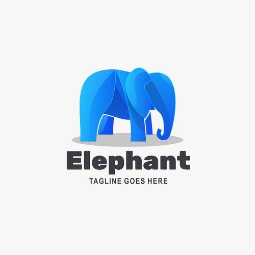 Company elephant logo vector