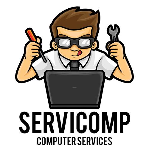 Computer services icon vector