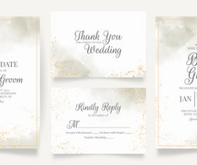 Concise wedding invitation vector