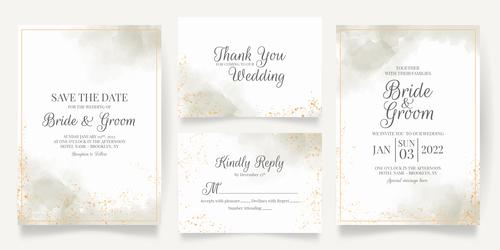 Concise wedding invitation vector