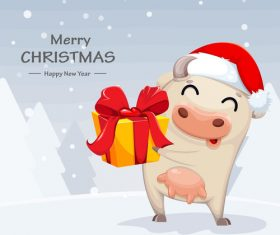 Congratulations merry christmas 2021 comic vector