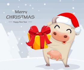 Congratulations merry christmas 2021 comic vector