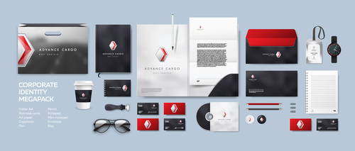 Cool corporate branding identity template vector