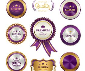 Corporate badges vector