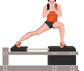 Correct fitness posture vector