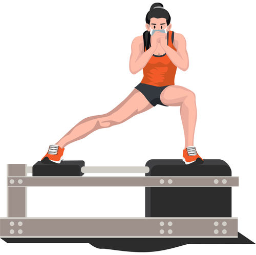 Correct fitness posture vector