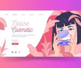 Cosmetics landing page vector