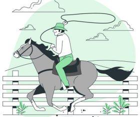 Cowboy cartoon background vector