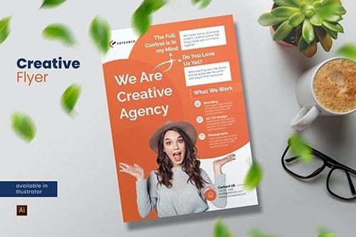 Creative Agency Flyer vector