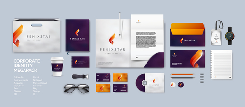 Creative corporate branding identity template vector