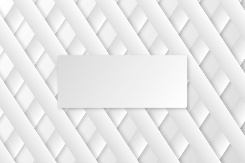 Cross pattern paper cut abstract background vector