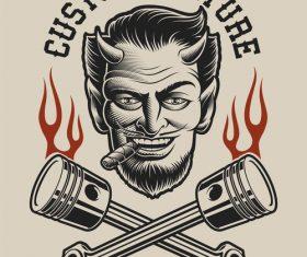 Custom cultuae logo vector