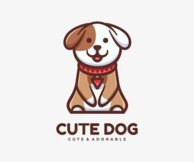 Cute dog mascot logo vector