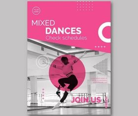 Dancing Flyer Template vector