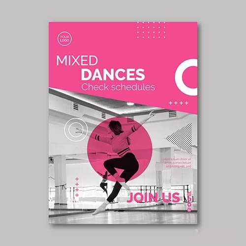 Dancing Flyer Template vector