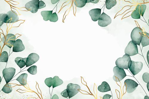 Dark green leaf vector on white background