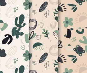 Dark leaves abstract seamless pattern vector