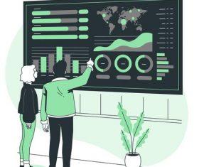 Data query cartoon background vector