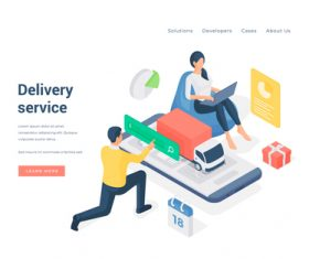 Delivery service illustration vector
