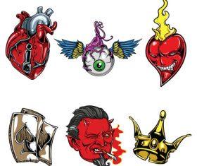 Demon tattoo logo vector