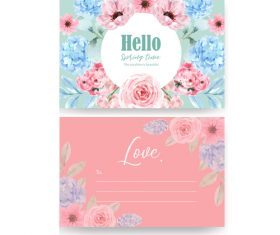 Design beautiful postcard cover vector