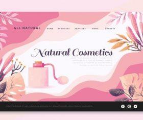 Design cosmetics landing page vector