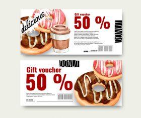Dessert gift voucher vector