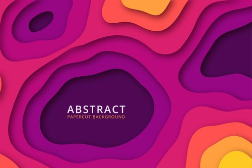 Different color difference geometric shapes abstract background vector