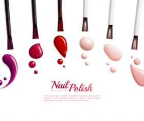 Different color nail polish vector