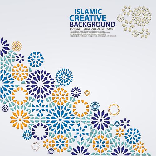 Different colors decorative mosaic background vector